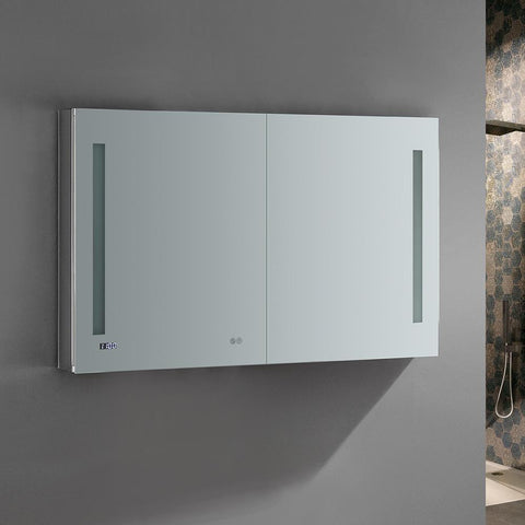 "Image of Fresca Tiempo 48"" Wide x 30"" Tall Bathroom Medicine Cabinet w/ LED Lighting FMC014830"