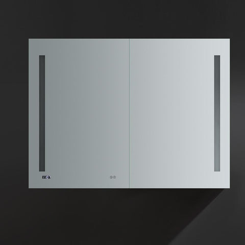 "Image of Fresca Tiempo 48"" Wide x 36"" Tall Bathroom Medicine Cabinet w/ LED Lighting FMC014836"