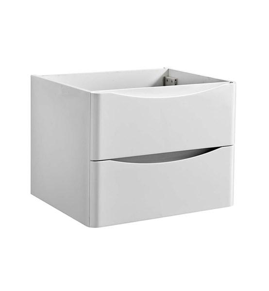 "Fresca Tuscany 24"" Glossy White Wall Hung Modern Bathroom Cabinet 