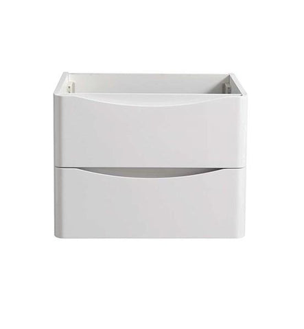 "Image of Fresca Tuscany 24"" Glossy White Wall Hung Modern Bathroom Cabinet 