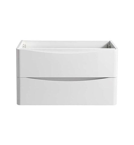 "Image of Fresca Tuscany 32"" Glossy White Wall Hung Modern Bathroom Cabinet 