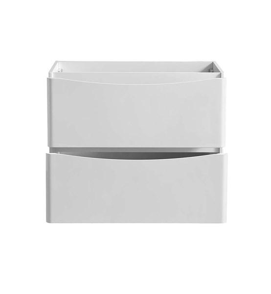 "Fresca Tuscany 36"" Glossy White Free Standing Modern Bathroom Cabinet 