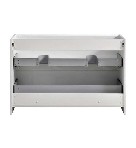 "Image of Fresca Tuscany 48"" Glossy White Free Standing Double Sink Modern Bathroom Cabinet 
