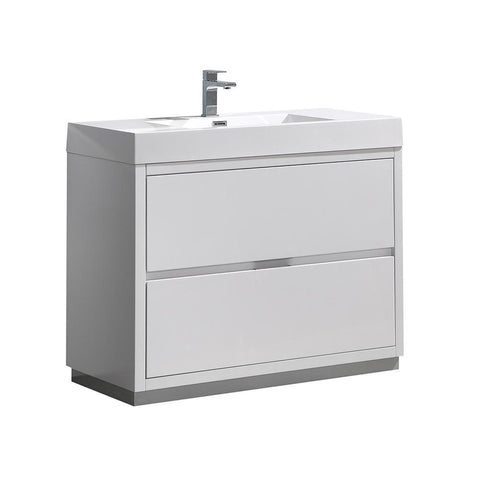 "Image of Fresca Valencia 40"" Free Standing Modern Bathroom Vanity FCB8442WH-I"