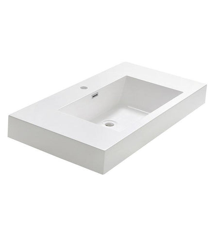 "Fresca Valencia 42"" White Integrated Sink / Countertop FVS8005WH"
