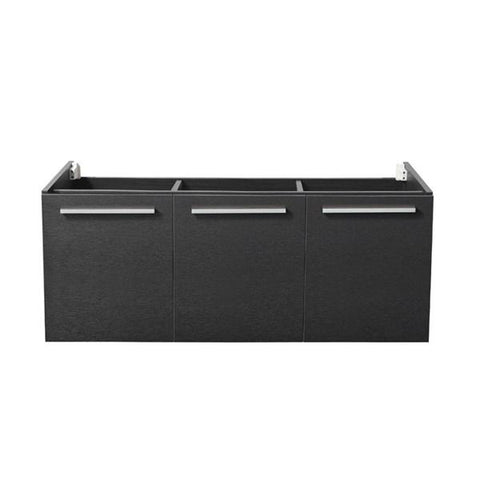 "Image of Fresca Vista 48"" Black Wall Hung Modern Bathroom Cabinet 