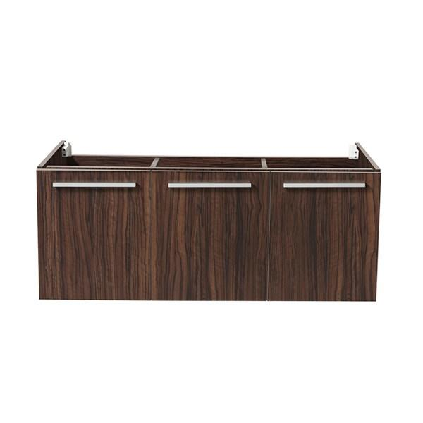 "Fresca Vista 48"" Walnut Wall Hung Modern Bathroom Cabinet 