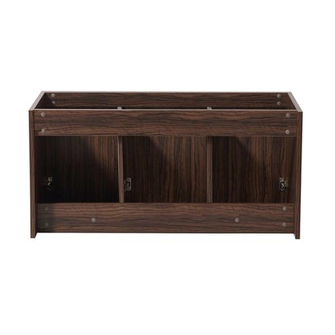 "Image of Fresca Vista 48"" Walnut Wall Hung Modern Bathroom Cabinet 