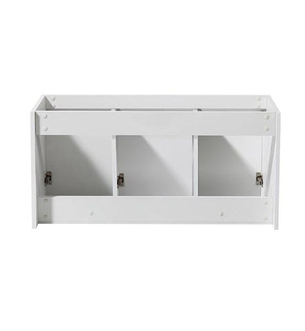 "Image of Fresca Vista 48"" White Wall Hung Modern Bathroom Cabinet 