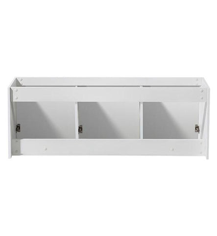 "Image of Fresca Vista 60"" White Wall Hung Double Sink Modern Bathroom Cabinet 
