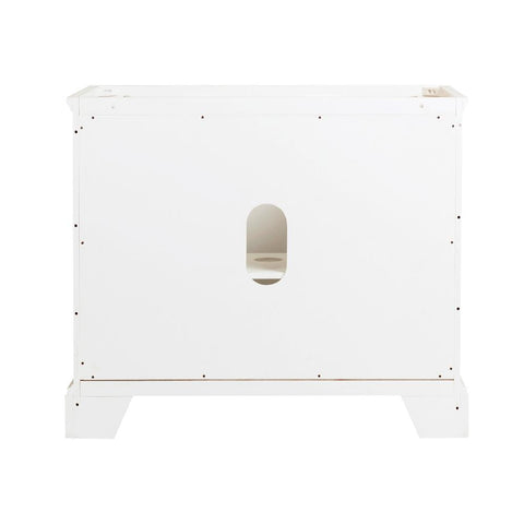 "Image of Fresca Windsor 40"" Matte White Traditional Bathroom Cabinet 