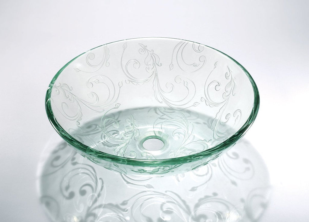 GLASS SINK BOWL ZA-208