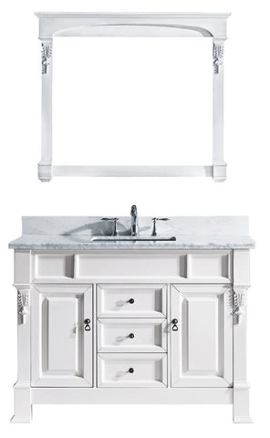 "Huntshire 48"" Single Bathroom Vanity GS-4048-WMSQ-WH"