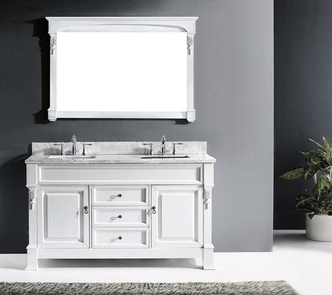 "Huntshire 60"" Double Bathroom Vanity GD-4060-WMRO-DW"