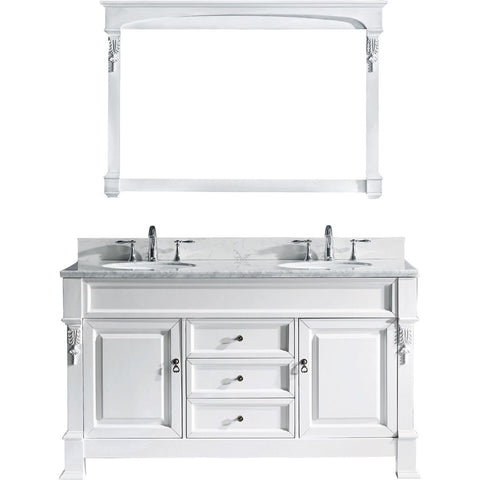 "Huntshire 60"" Double Bathroom Vanity GD-4060-WMRO-WH"