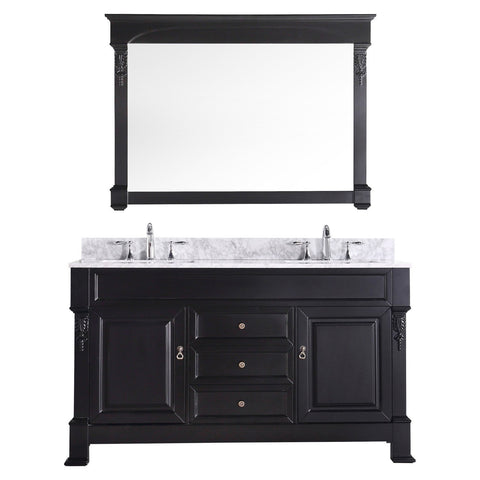 "Huntshire 60"" Double Bathroom Vanity GD-4060-WMSQ-DW"