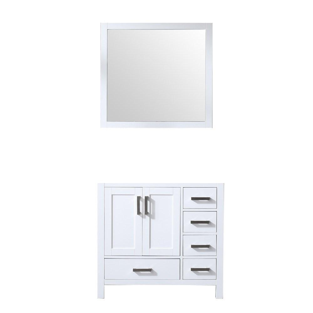 "Jacques 36"" Single Vintage Bathroom Vanity Cabinet & 34"" Wall Mirror Left LJ342236SA00M34-L"