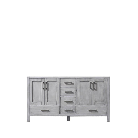 "Jacques 60"" Distressed Grey Bathroom Organiser Bath Storage Vanity Cabinet Only LJ342260DD00000"