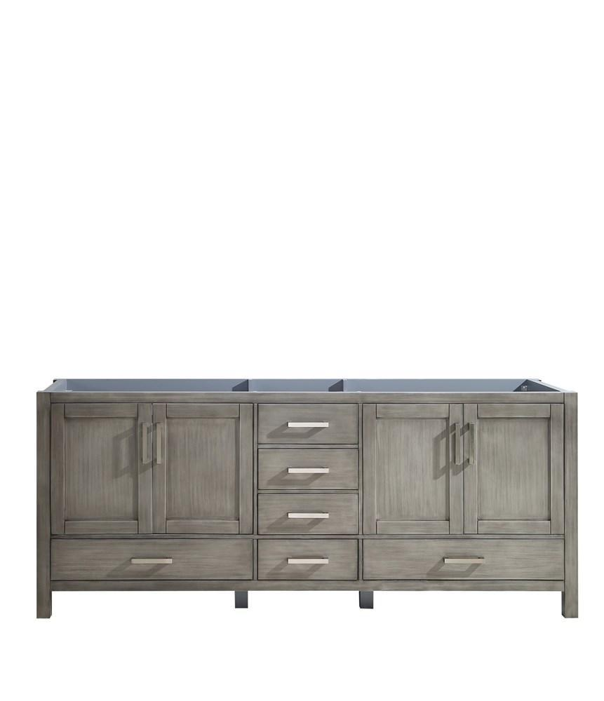 "Jacques 80"" Distressed Grey Bathroom Organiser Bath Storage Vanity Cabinet Only LJ342280DD00000"