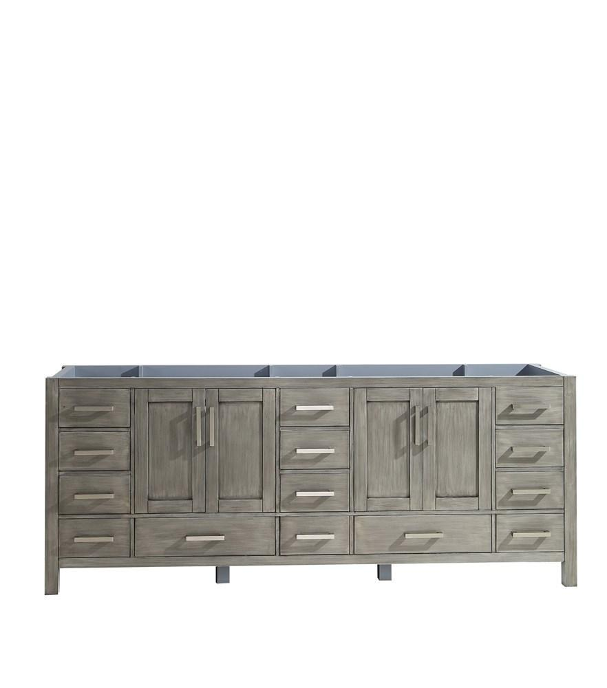 "Jacques 84"" Distressed Grey Bathroom Organiser Bath Storage Vanity Cabinet Only LJ342284DD00000"