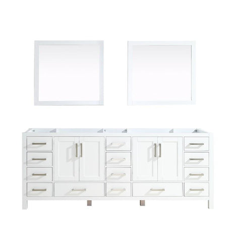 "Jacques 84"" Double Vintage Bathroom Organiser Vanity Cabinet & 34"" Wall Mirrors LJ342284DA00M34"