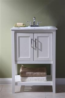 "Legion WLF6020-W 24"" SINK VANITY WITHOUT FAUCET - White WLF6020-W"