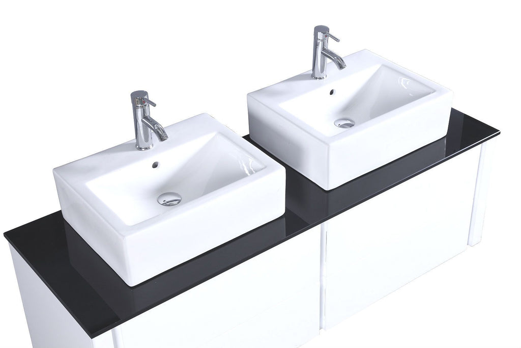 Legion WT9012A SINK VANITY  WITH MIRROR - NO FAUCET - White WT9012A