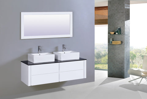 Image of Legion WT9012A SINK VANITY  WITH MIRROR - NO FAUCET - White WT9012A
