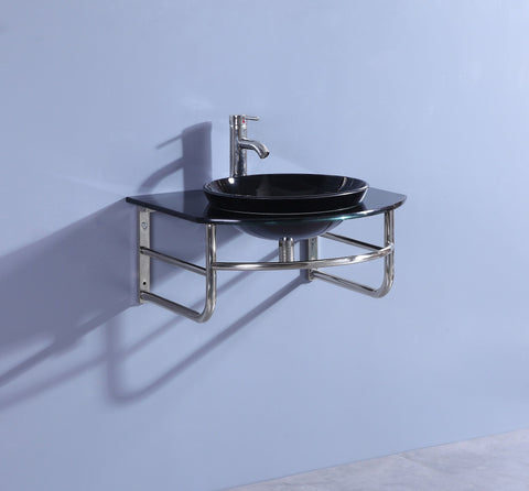 Legion WTB072 SINK VANITY WITHOUT MIRROR AND FAUCET - Black WTB072