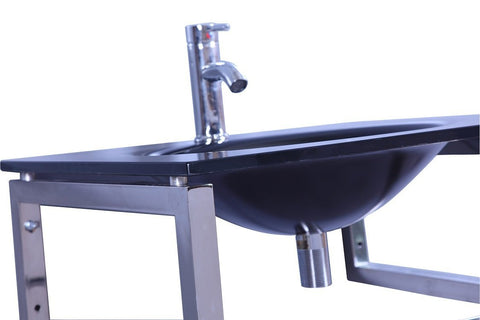 Image of Legion WTB074 SINK VANITY WITHOUT MIRROR AND FAUCET - Black WTB074