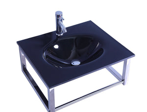 Legion WTB074 SINK VANITY WITHOUT MIRROR AND FAUCET - Black
