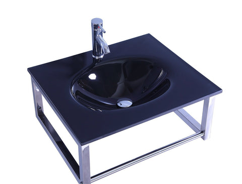 Legion WTB074 SINK VANITY WITHOUT MIRROR AND FAUCET - Black WTB074