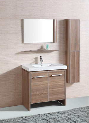 Legion WTH0932-R Sink vanity with mirror and side cabinet - Desert Sand