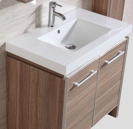 Image of Legion WTH0932-R Sink vanity with mirror and side cabinet - Desert Sand WTH0932-R
