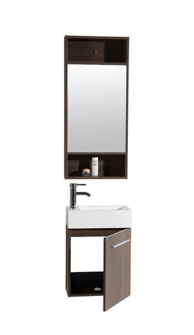 Image of Legion WTH20160A SINK VANITY  WITH MIRROR - NO FAUCET - Walnut WTH20160A