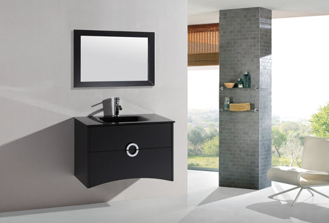 Image of Legion WTH22120B SINK VANITY  WITH MIRROR - NO FAUCET - Espresso WTH22120B