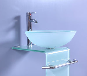 Legion WTH70854 SINK VANITY WITHOUT MIRROR AND FAUCET - Frosted
