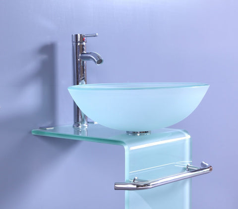 Legion WTH70854 SINK VANITY WITHOUT MIRROR AND FAUCET - Frosted WTH70854