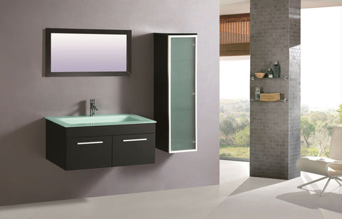 Legion WTM8116 SINK VANITY  WITH MIRROR - NO FAUCET - Espresso WTM8116