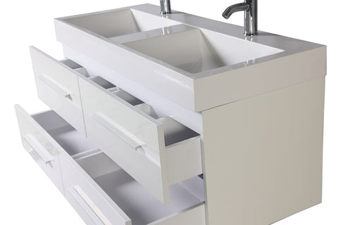 Legion WTM8121 SINK VANITY  WITH MIRROR - NO FAUCET - White WTM8121