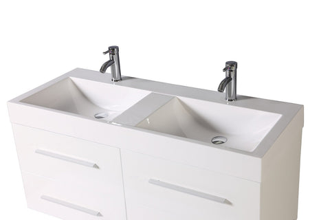 Image of Legion WTM8121 SINK VANITY  WITH MIRROR - NO FAUCET - White WTM8121