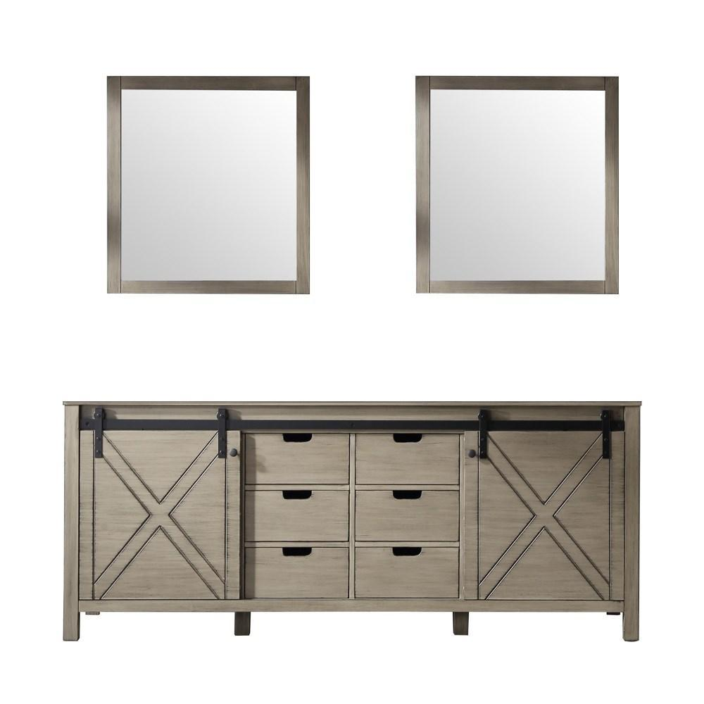 "Marsyas 80"" Ash Grey Double Vanity 