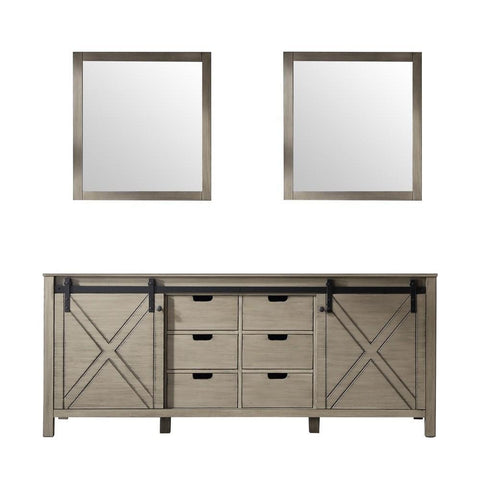 "Image of Marsyas 80"" Ash Grey Double Vanity 