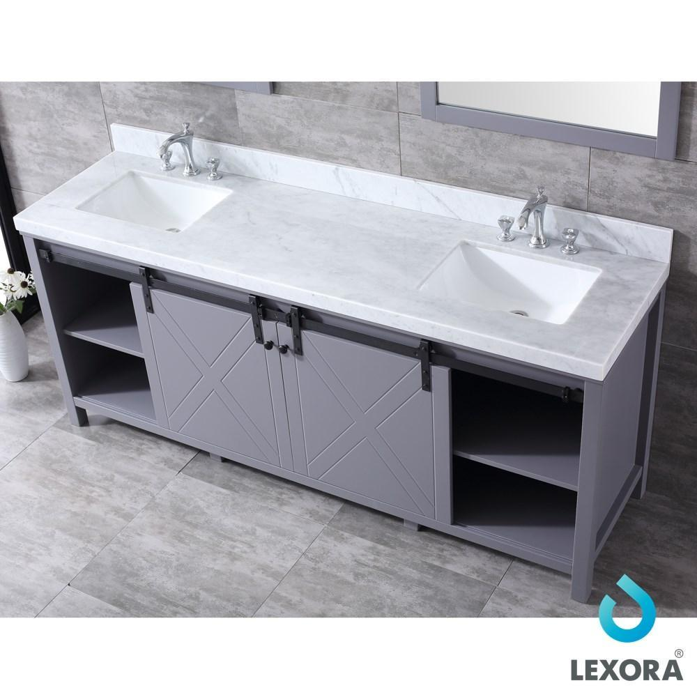 "Marsyas 80"" Dark Grey Double Vanity 