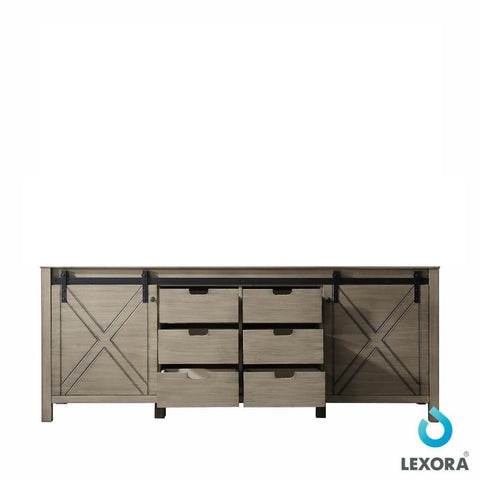 "Image of Marsyas 84"" Ash Grey Bathroom Organiser Bath Storage Vintage Vanity Cabinet Only LM342284DH00000"