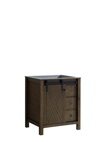 "Image of Marsyas Veluti 30"" Rustic Brown Bathroom Organiser Bath Storage Vanity Cabinet LM343330SK00000"