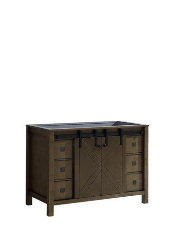 "Image of Marsyas Veluti 48"" Rustic Brown Bathroom Organiser Bath Storage Vanity Cabinet LM343348SK00000"
