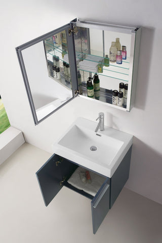 "Image of Midori 24"" Single Bathroom Vanity JS-50124-GR"