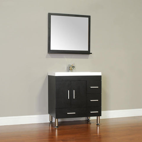 "Ripley Collection 30"" Single Modern Bathroom Vanity - Black AT-8050-B"