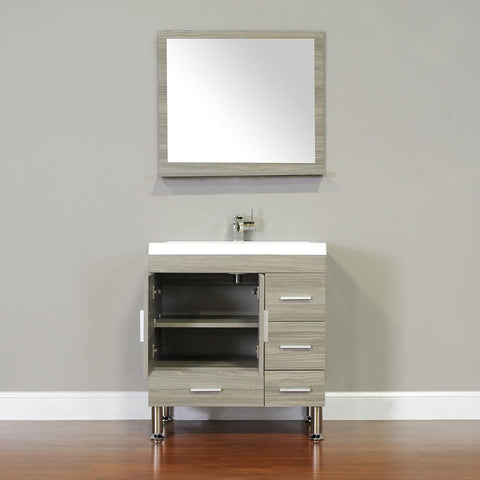 "Image of Ripley Collection 30"" Single Modern Bathroom Vanity - Gray AT-8050-G"